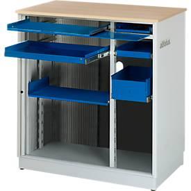 Computer-Station adlatus Typ 6001, stationäre oder mobile Ausführung, B 1030 x T 660 x H 1100 mm