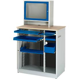Computerstation type 6018, B 1030 x D 660 x D 1810 mm, stationair.