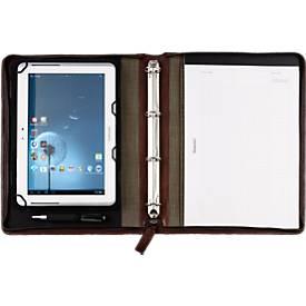 Conférencier A4 cuir pour Tablette PC, brun