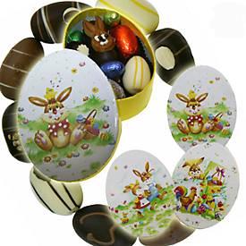 Confiserie Rabbel Osterpräsent Lack-Eier, mit Marzipan, Inhalt 100 g
