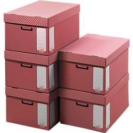 Container für Archiv-Schachteln, mit Deckel