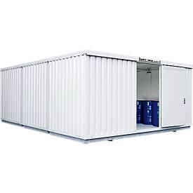 Container voor gevaarlijke stoffen SAFE Tank 3000, geïsoleerd, RAL 9002 grijswit, B 3050 x D 6520 x H 2520 mm, RAL 9002, geïsoleerd.