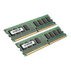 Image of Crucial - DDR2 - 4 GB: 2 x 2 GB - DIMM 240-PIN - ungepuffert