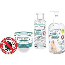 Cyber Clean Professional Hygienebundle, Reinigungsmasse, 160 g + Händedesinfektionsgel Power Gel, 60 und 220 ml