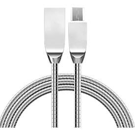 Daten-/Ladekabel Felixx, Micro-USB, L 1 m, geflochtenes Metall, verwicklungssicher