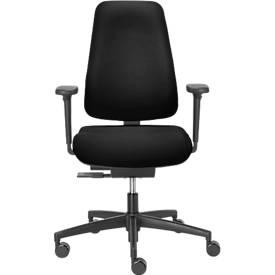 Dauphin Bürostuhl BASISLINE 0890, Synchronmechanik, ohne Armlehnen, Beckenstütze, schwarz