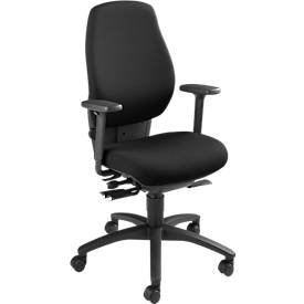 Dauphin Bürostuhl SHAPE 28485, Synchronmechanik, mit Armlehnen, hohe Rückenlehne, Beckenstütze, schwarz