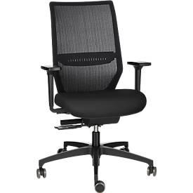 Dauphin Bürostuhl SHAPE ECONOMY 2 MESH, Synchronmechanik, mit Armlehnen, 3D-Sitzgelenk, schwarz