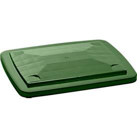 Deckel für Großbehälter 210 l, stapelfähig, grün