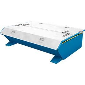 Deckel für Bauer Kippbehälter MGU/SMGU 270, verzinkt, 2-seitig zu öffnen