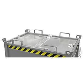 Deckel, für Klappbodenbehälter FB 750, verzinkt