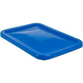 Deckel für Rechteckbehälter, Kunststoff, 227 l, blau