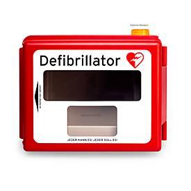 Defibrillator Hartschalen-Wandkasten, mit Alarm, mit Heizung, mit Infoscreen
