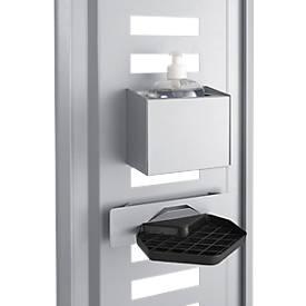 Desinfektionsmittelspender Halterung für modulare Hygienestation Basic, inkl. Tropfschale