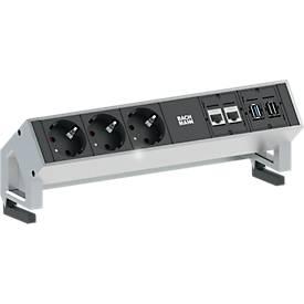 Desk 2 , randaarde/CAT6/USB/HDMI, aluminium