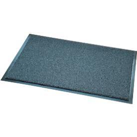 Deurmat Salvus, 100% gerecycled, met borsteleffect, B 600 x L 800 mm, grijs, met borsteleffect.