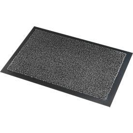 Deurmat Savane, met borsteleffect, B 900 x L 1500 mm, afwasbaar, grijs