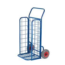 Diable avec cage repliable, charge 150 kg, largeur 660 mm