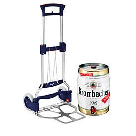 Diable pliable RuXXac- cart Business XL, capacité de charge 125 kg + 1 fût de bière Krombacher