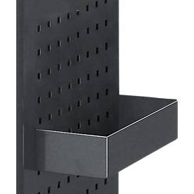 Dienblad voor geperforeerde wand, B 300 x D 125 x H 65 mm, B 300 x D 125 x H 65 mm