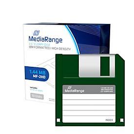 """Disketten MediaRange 3,5"""" Format, 1,44 MB Kapazität, Typ MF-2HD Diskette, 10er-Pack"""