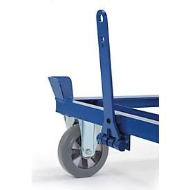 Dissel en koppeling voor palletonderstel op wielen