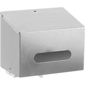 Distributeur Inox de papier WC à 2 rouleaux