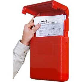 Dokumenten-Box, klein, L 260 x B 57 x H 318 mm