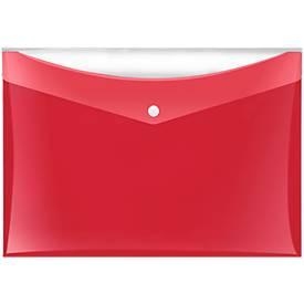Dokumententasche Veloflex VELOCOLOR®, DIN A4, Kunststoff, für ca. 100 Blatt, 6 Stück, rot