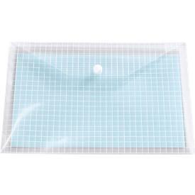 Dokumententaschen, mit Druckknopfverschluss, PP, transparent, 10 Stück
