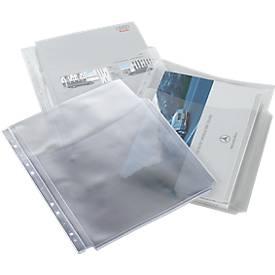 Dokumententaschen, PP, mit halbrunder Öffnung, 10 Stück