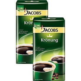 Doppelpack Jacobs Krönung Kaffee in Spitzenqualität, gemahlen