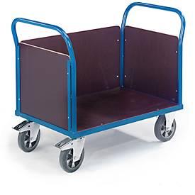 Driewandige trolley, 1000 x 680 mm, draagvermogen 1.200 kg.