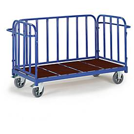 Driewandige trolley, 1600 x 840 mm, draagvermogen 1.200 kg.