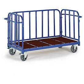 Driewandige trolley, 2000 x 840 mm, draagvermogen 1.200 kg.