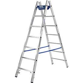 Dubbele sporten ladder, 2 x 6 sporten, + toolbag GRATIS + toolbag