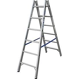 Dubbelzijdige trap, Alu, 2x6 treden