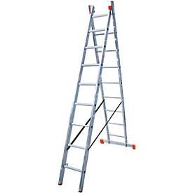 DUBILO Multifunctionele ladder, 2 x 9 sporten, 2 x 9 sporten