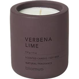 Duftkerze Blomus FRAGA, Winetasting, umweltfreundliches Sojawachs Farbe, Duft Verbena Lime, klein Ø 65 x H 80 mm