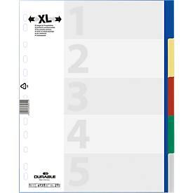 DURABLE Gekleurde tabbladen  PP, A4 XL, A4 XL, 5 delig