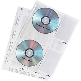DURABLE Gepeforeerde hoesjes voor CD/DVD, A4 formaat, pak van 5