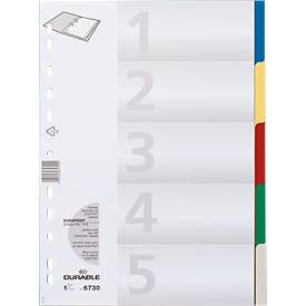 DURABLE Intercalaires PP de couleurs, A4 XL
