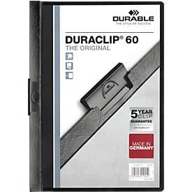 DURABLE Klemmmappen DURACLIP, 6 mm, 25 Stück