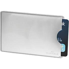 Durable Kreditkartenhüllen RFID SECURE, Schutz vor unbefugtem Auslesen, 10 Stück
