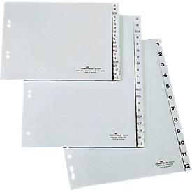 DURABLE Kunststoffregister, A4 hoch, Zahlen 1-5, grau