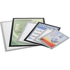 DURABLE magneetlijsten DURAFRAME®, A5 formaat, zilver, 10 stuks