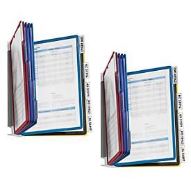 DURABLE Metall-Wandhalter, mit Sichttafeln, farbig sortiert,  2er SET