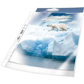 DURABLE Prospekthüllen Premium, DIN A4, oben offen, 50 Stück, genarbt, transparent