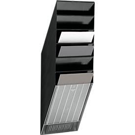 DURABLE Prospektspender Flexiboxx 6, 6 Spender, A4, hoch, schwarz