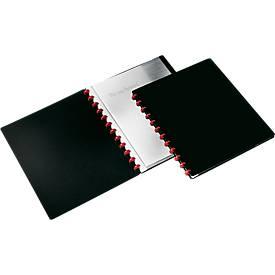 DURABLE Showalbum DURALOOK® Easy, met 20 hoezen, zwart, 1 pak = 2 stuks